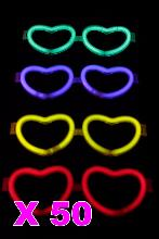 Kit de 50 lunettes coeur lumineuses couleurs assorties d67899630ad8