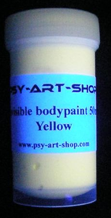 UV bodypaint invisible 45ml Jaune