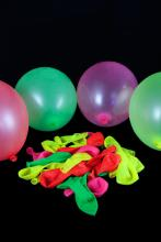 Ballons fluo multicolore 29 X 40 cm lot de 100