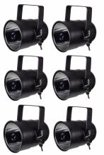 Lot de 6 projecteurs + lampe 25w incluse