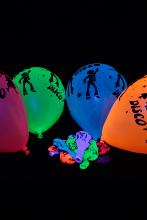25 Ballons Fluo Disco UV