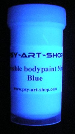 UV bodypaint invisible 45ml Bleu