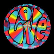 Sticker psychedelic love