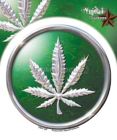 Sticker Hemp leaf