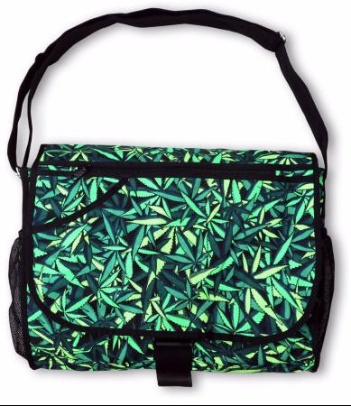 Sac à bandoulière UV motif Psy Sea of Green Weed