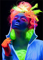 Gel cheveux & coiffure FLUO
