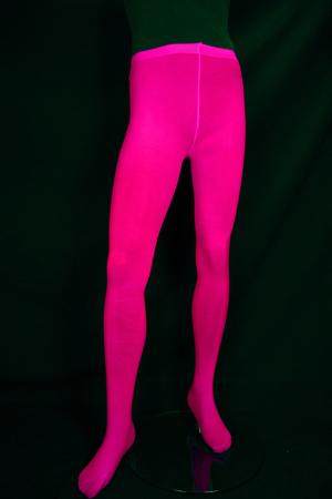 Collants taille standard rose fluo