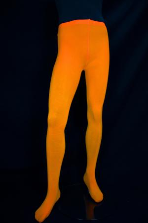 Collants taille standard orange fluo