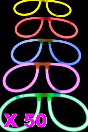 Kit 50 lunettes fluo couleurs assorties multicolore fc32d5913af9