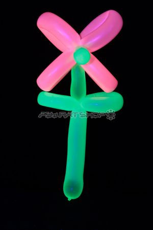 Ballon UV fluorescent à sculpter Rose