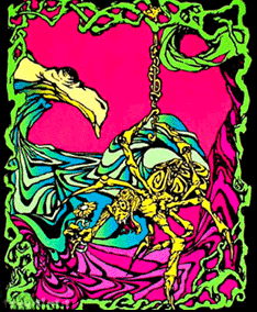 Poster fluo psychedelic : Spider Flower