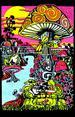 Poster Psychedelic fluo : Magique Mushroom