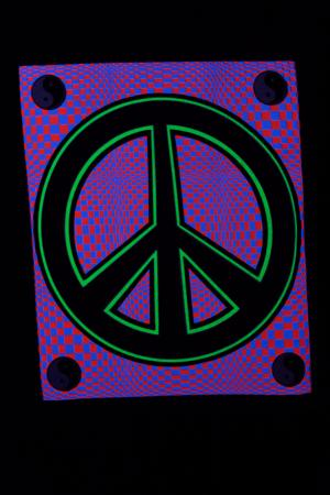 Mini tenture fluo : Peace Sign