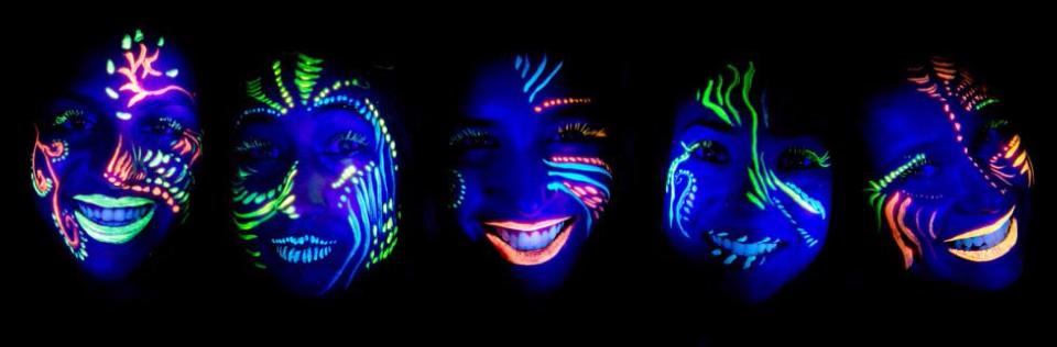 Maquillage Fluo / Invisible UV / Phospho