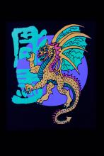 Mini tenture fluo : Chinese Dragon