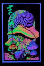 Blacklight Poster :ALICE DREAMING IN WONDERLAND