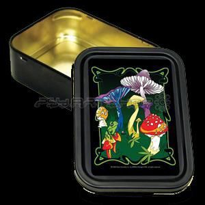 Box Mushrooms bug Large` Storage Tin
