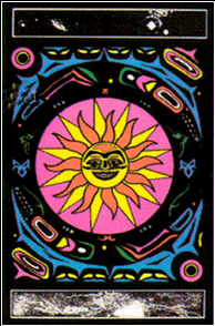 Poster psychedelic fluo : soleil & tribal