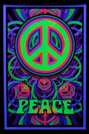 Poster psychedelic : Peace Sign
