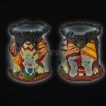 CERAMIC OIL BURNER MUSHROOM FAMILY