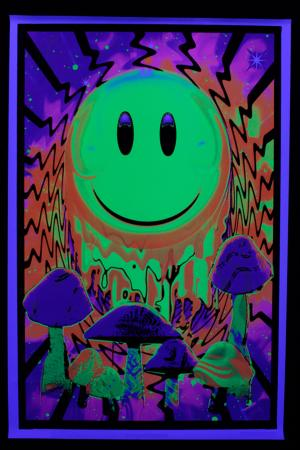 Poster psychedelic : Smiley « Have a Nice Trip »