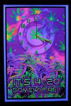 Poster fluo : It's 4:20 Somewhere