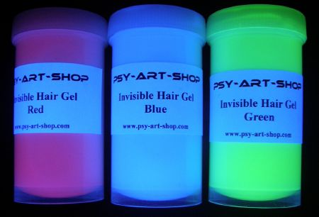 Pack hair gel fluo invisible 3 couleurs