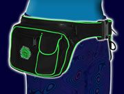 Giant Zip Utility Belt : Black/UV Lime