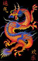 Poster fluo : Dragon Chinois