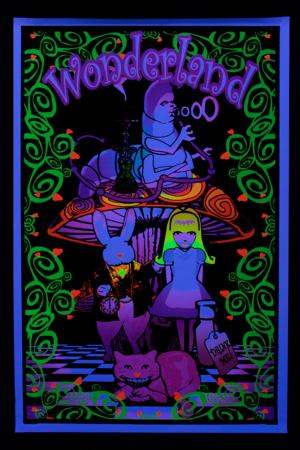 Poster psychedelic :  Alice in Wonderland