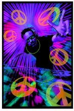 Blacklight Poster : DJ Peace