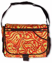 Sac à bandoulière UV motif Psy Fire Splash